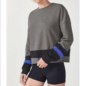 Fabletics Demi Lovato Odessa Striped Sweatshirt XS